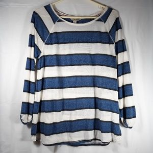 Lucky Brand Striped Blue and White Top